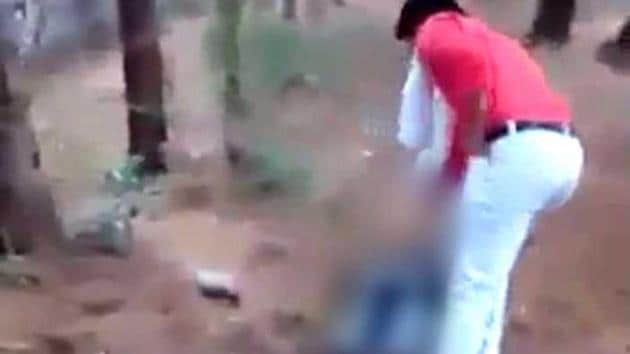 The clips, circulated on WhatsApp, emerged from the western state's Rajsamand district on Wednesday, police said.(Video grab)