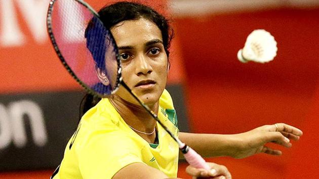 PV SIndhu will start her BWF Super Series Final campaign in Dubai against He Bingjiao.(AP)