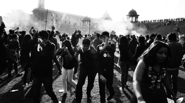 <p>&ldquo;Thousands of us occupied Rajpath, the most powerful corridor in our country. Tear gas shells were fired and water cannons were employed to disperse...
