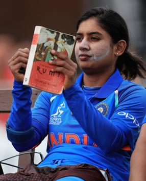 The pleasures of a good book: Mithali Raj, captain of India ahead of her batting innings during the ICC Women's World Cup 2017 match between South Africa and India on July 8, 2017 in Leicester, England. The skipper would probably appreciate the HT reviewers' picks.(Getty Images)