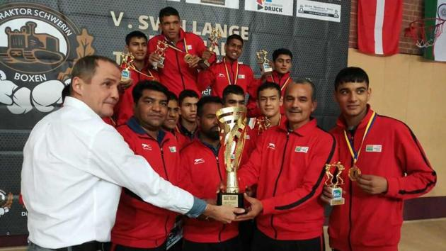 The Indian junior boxing contingent clinched six gold, four silvers and one bronze medal at the 5th International Sven Lange Memorial Tournament in Germany.(BFI)