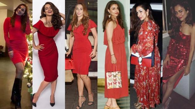 We can't help but take inspiration from these glamorous ladies in red and their trendy looks.(Instagram)