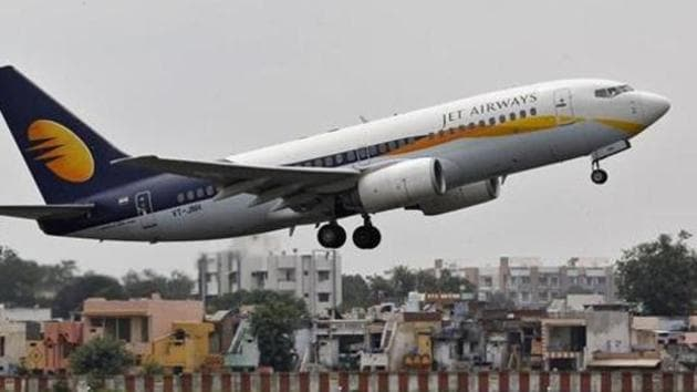 A Jet Airways aircraft takes off from the Ahmedabad airport. Jet Airways and Air India face the maximum complaints from passengers, according to government data.(REUTERS)