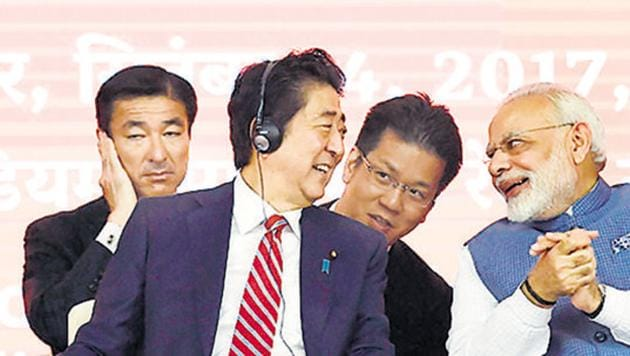 This year, the idea --- 'Indo-Pacific' --- 'picked up steam, especially in official circles. Its origins can be traced to a speech delivered in August 2007 by Japanese Prime Minister Shinzo Abe to the Indian Parliament(AFP)
