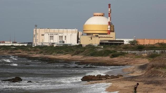 A policeman walks on a beach near Kudankulam nuclear power project in Tamil Nadu.(Reuters File Photo)