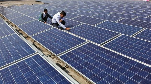 Though the power connection from the main grid will not be snapped, the officials hope solar power will be important for uninterrupted supply and reducing power bills.(HT Photo)