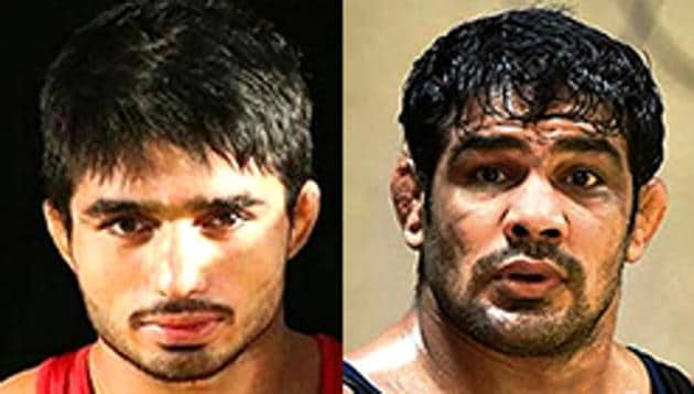 Sushil Kumar had just defeated Parveen Rana in a Commonwealth Games trial when the duo's supporters started fighting at the IG Stadium in New Delhi on Friday. Sushil Kumar, a two-time Olympic medallist, has been booked by the Delhi Police.(HT Sports)