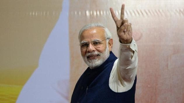 Narendra Modi visited 14 countries in 2017.(AFP Photo)