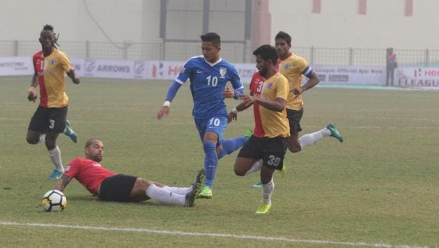 East Bengal earned an away win against Indian Arrows in the I-League on Tuesday.(AIFF)