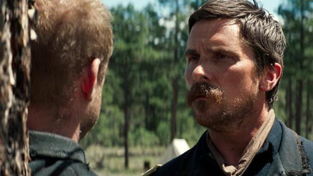 Christian Bale in a scene from Hostiles.(AP)