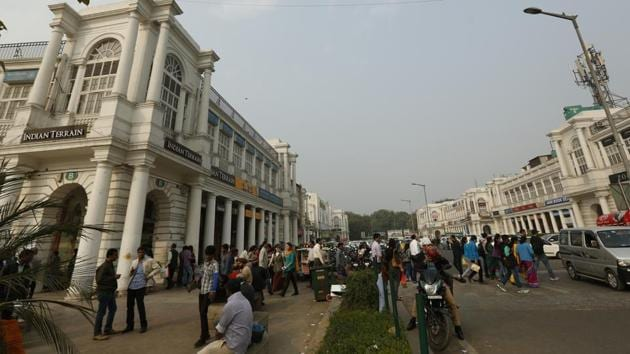 A view of connaught place Market in New Delhi on Thursday 10, December 2015.(HT File Photo)