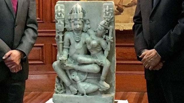 The Brahma-Brahmani idol was found to be in the possession of an individual in London who had advertised it to sell it.(AP File Photo)
