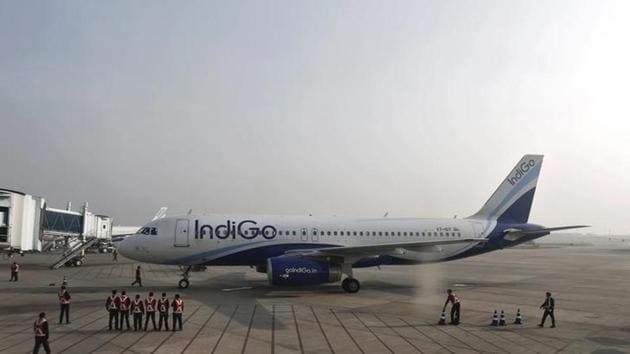 The aircraft, which took off from Mumbai airport at 10.30pm, had 183 passengers on board.(HT File Photo)