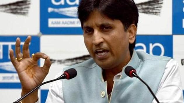 AAP leader Kumar Vishwas has visited the state only four times since he was entrusted with the job of overseeing the party affairs in the state in May 2017.(Sushil Kumar/HT PHOTO)