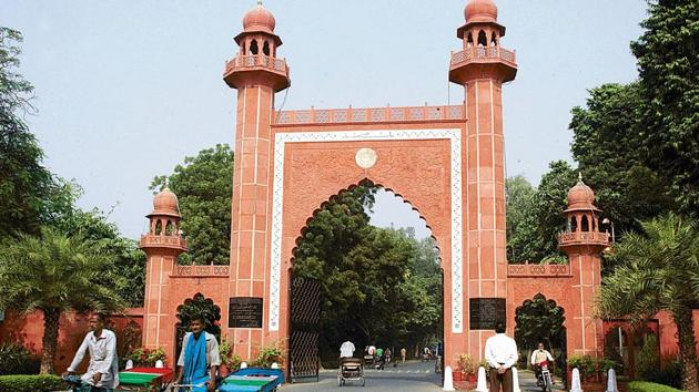 "AMU spokesman Shafay Kidwai, however, denied the Kashmiri students' charges of harassment and stressed that ""no innocent would be framed"".(HT PHOTO)"