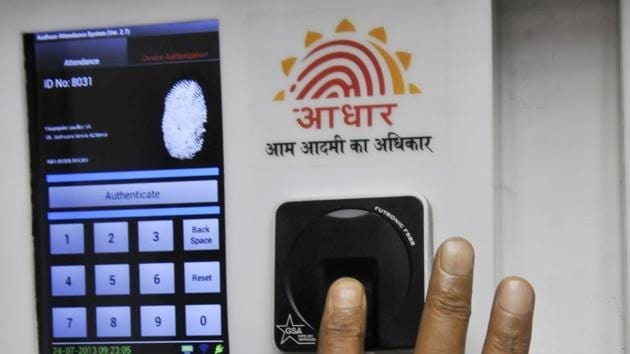 """The success of Aadhaar is finding its resonance world over. The World Development Report 2016 released by the World Bank said, """"A digital identification system such as India's Aadhaar, by overcoming complex information problems, helps willing governments promote the inclusion of disadvantaged groups.""""(Vipin Kumar/Hindustan Times)"""