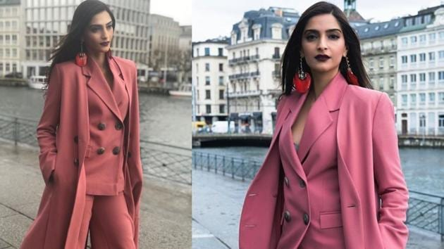 Think a pink suit is not your style? Sonam Kapoor will change your mind