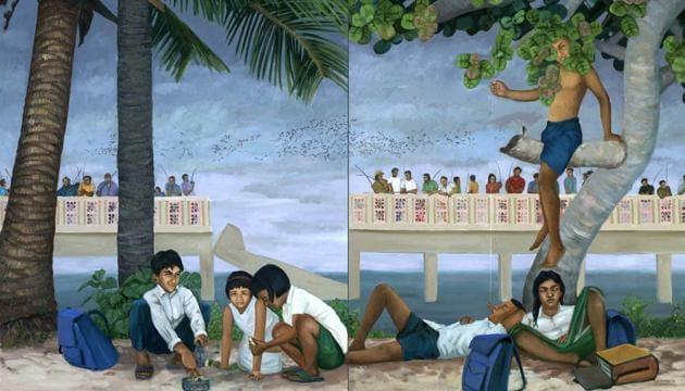 """KP Reji's 'Fishes under the Broken Bridge'(Photo courtesy"""" KP Reji)"""