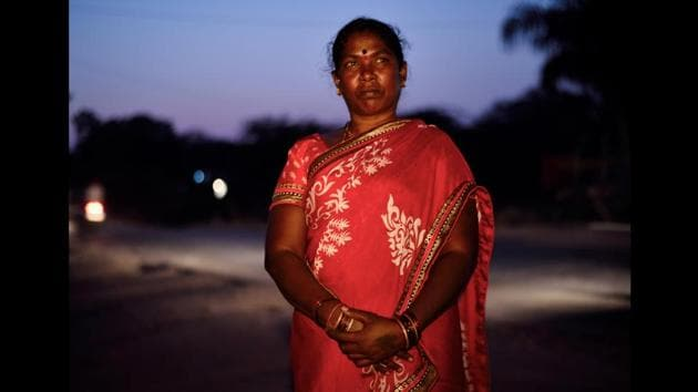 <p>Tulsabai Sankhwad poses for a portrait at Arjapur village in Nanded, Maharashtra. Voted her village&rsquo;s sarpanch in October 2015, Tulsabai is the first...