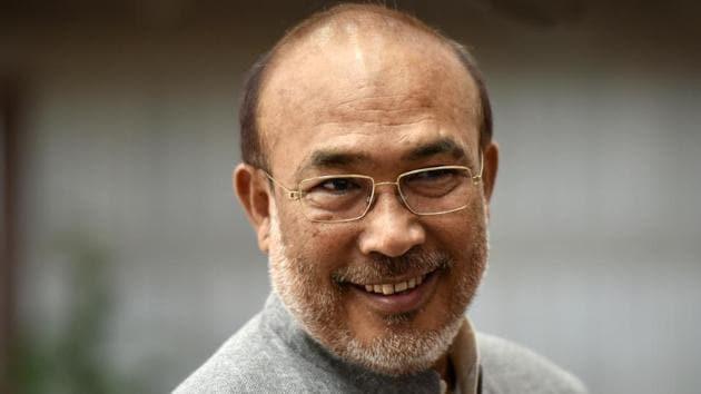 Manipur chief minister Nongthombam Biren Singh took to Twitter to complain about Air India's lack of concern for the passengers stranded at the Guwahati airport.(Vipin Kumar/HT PHOTO)