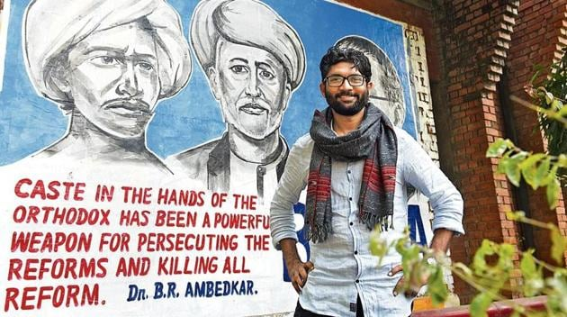 """""""We will transform Vadgam. I will invite experts from various fields to contribute in making Vadgam a model constituency,"""" Mevani says. (Vipin Kumar/HT Photo)"""