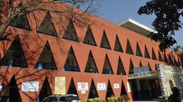 Government Model Senior Secondary School, Sector 27, Chandigarh.(Karun Sharma/HT)