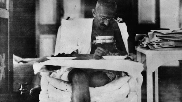 Historians were obsessed with the spilling of blood. Gandhi however believed that throughout history, non-violence had played a more active role in shaping human affairs than violence.(Getty Images)