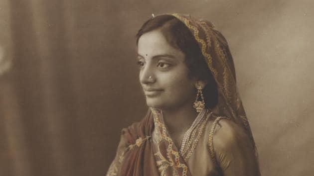 A photograph of Maharani of Pratapgarh.(HT)