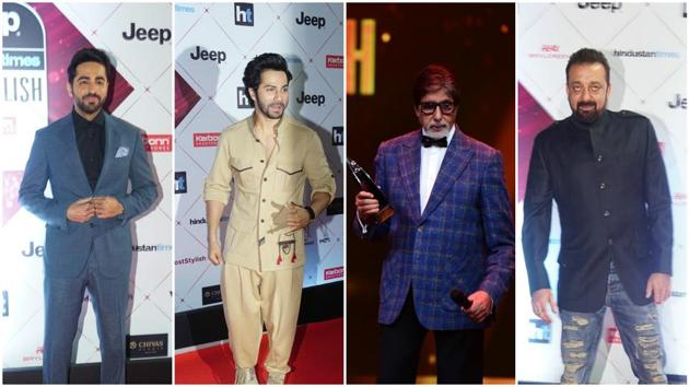 HT India's Most Stylish 2018 saw leading actors grace the event.(HT photo)