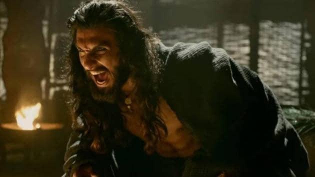 Ranveer Singh as Alauddin Khilji in Sanjay Leela Bhansali's Padmaavat.(Movie still)
