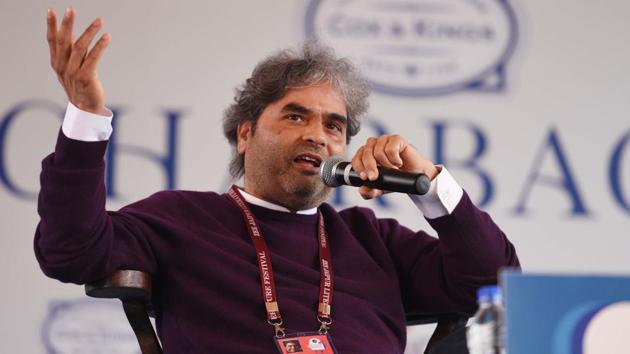 More than about politics or Kashmir, Haider was, to Vishal Bhardwaj, about his father. The director said this during a session titled Revolutionary Poets: On Hamlet, Haider and Shakespeare's Ability to Speak Truth to Power at the Jaipur Literature Festival on Friday.(Raj K Raj/HT PHOTO)