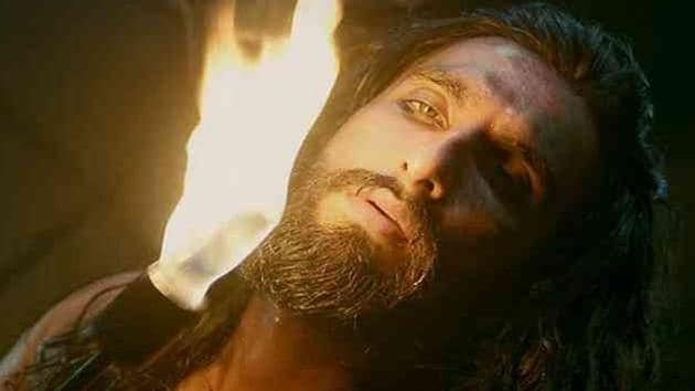 Ranveer Singh as Alauddin Khilji in Padmaavat.