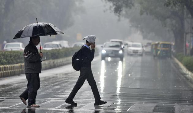 A downpour in New Delhi. Rain-making, at its heart, even in our oldest myths, is about faith and good intentions.(HT File Photo)