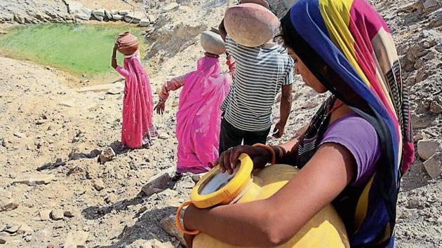 Under the scheme, the government plans to give 50% of the money to states, including gram panchayats, as incentives for achieving targets in groundwater management.(HT File Photo)
