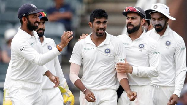 Jasprit Bumrah's effort in the Johannesburg Test against South Africa was appreciated by Indian cricket team captain Virat Kohli.(AFP)