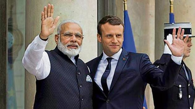 French President Emmanuel Macron is likely to be attending the solar alliance meeting in New Delhi.(AP file)