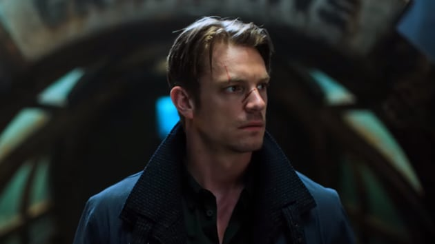 Joel Kinnaman in a still from Altered Carbon.
