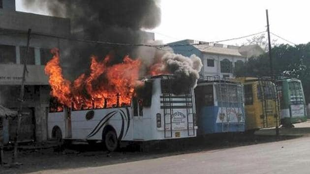 A mob went on a rampage after a man was killed on Friday during a Tiranga bike rally in Kasganj on January 26, 2018.(PTI File Photo)