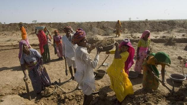 On MGNREGS, states have already spent onethird of the funds allocated to them for the year. Provide more support(HTPHOTO)