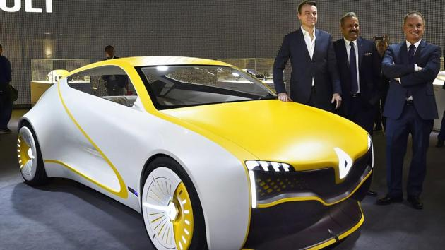"""Renault India Pvt. Ltd also showcased the Zoe, a electric concept car ZOE e- Sport. Sawhney said """"transformation towards electric vehicles (EVs) is inevitable in India"""", while conceding that the company is """"awaiting a government policy on research and development before taking a long-term strategic decision."""" (Kamal Singh / PTI)"""