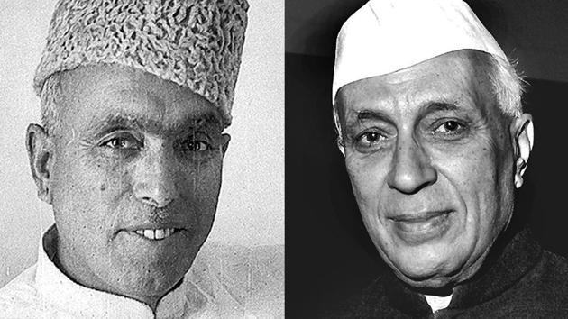 Sheikh Abdullah and Jawaharlal Nehru.(HT Archive)
