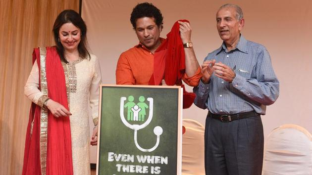 Sachin Tendulkar has expressed his support for tournaments like the National Chess Championship for the visually challenged.(Satyabrata Tripathy/HT Photo)