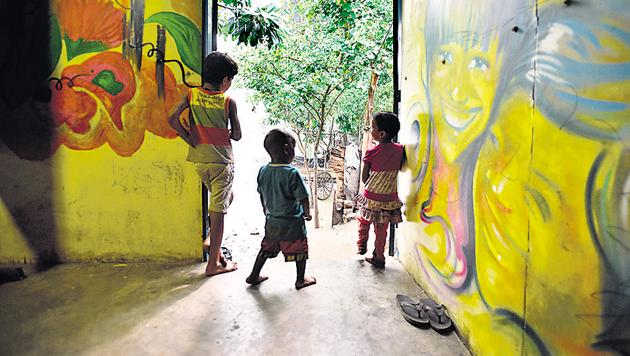 Experts say foster care is one of the most effective mechanisms for the rehabilitation of children. Under the programme, a child lives on a temporary basis with the foster parents.(Ravi Choudhary/HT PHOTO)