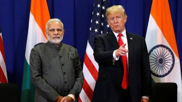 """PM Narendra Modi and US President Donald Trump """"expressed concern"""" over the crisis in the Maldives in a phone call on Thursday that seemed intended to signal to the Indian Ocean nation of islands that it needed to fix the crisis without involving other countries with or without any stake in the situation. (Jonathan Ernst / REUTERS)"""