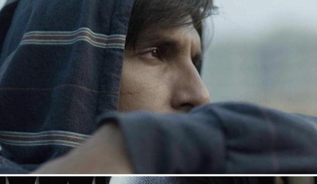 Ranveer Singh in the first look from Gully Boy.