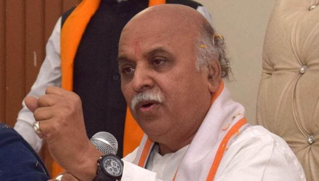 """If couples don't fall in love, there'll be no marriages,"""" VHP's international working president Pravin Togadia said in Chandigarh on Sunday.(HT Photo)"""