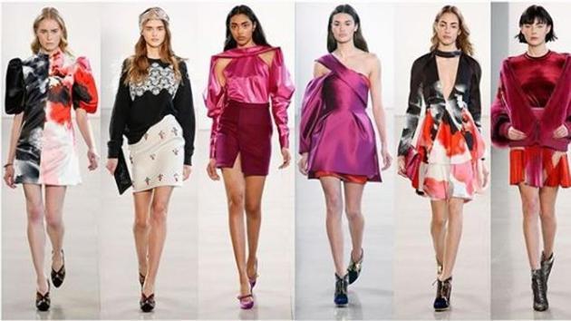 Models walk the ramp in designer Bibhu Mohapatra's Autumn Winter 2018 collection at(Instagram/ bibhumohapatra)