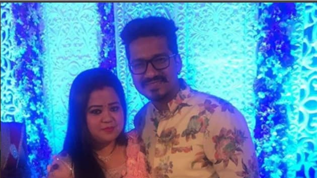 Bharti and Harsh celebrate their first Valentine's Day after marriage.(Instagram/bharti.laughterqueen)