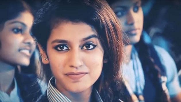 Priya Varrier Prakash is set to make her debut in Malayalam film industry with Oru Adaar Love.(IANS via video screengrab)