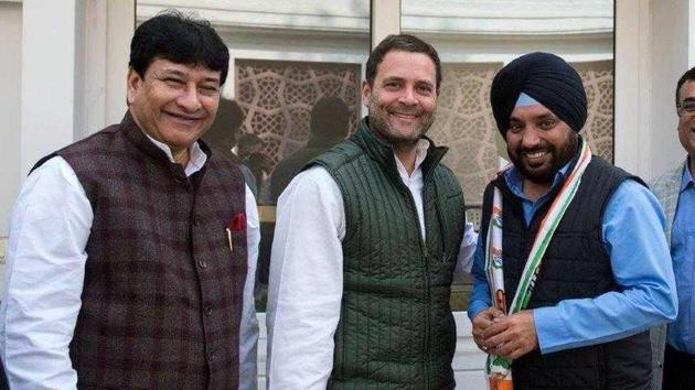 Arvinder Singh 'Lovely' with Congress president Rahul Gandhi(Photo: Sourced)
